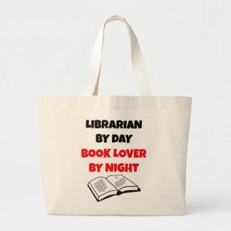 Grand Tote Bag Bibliothécaire par l'amoureux des livres de jour p