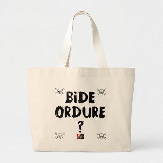Grand Tote Bag BIDE ORDURE ? - Jeux de Mots - Francois Ville