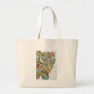 Grand Tote Bag BISON .2 d'aquarelle