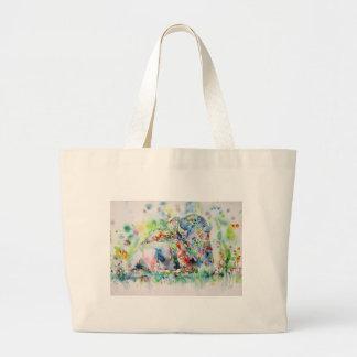 Grand Tote Bag BISON .3 d'aquarelle