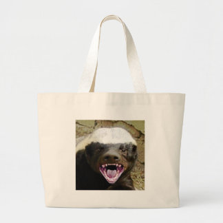 Grand Tote Bag blaireau de miel de morsure de bouche