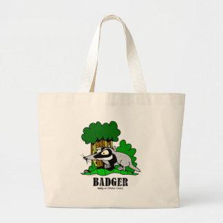Grand Tote Bag Blaireau par Lorenzo