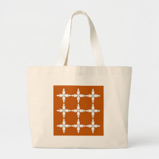 Grand Tote Bag Blanc de brun d'éléments de conception