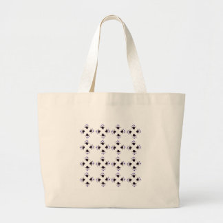 Grand Tote Bag Blanc noir de tulipes