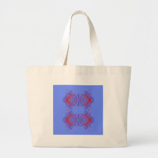 Grand Tote Bag Bleu Eco d'éléments de conception