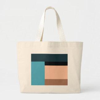 Grand Tote Bag Bloc de couleur de crème glacée