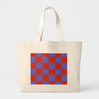 Grand Tote Bag Blocs rouges géniaux de bleu