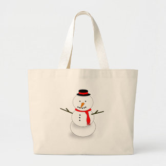 Grand Tote Bag Bonhomme de neige de Joyeux Noël