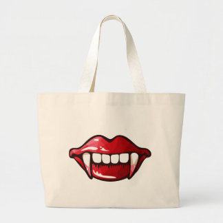 Grand Tote Bag bouche de vampire