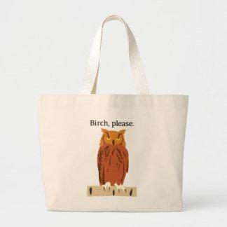 Grand Tote Bag Bouleau svp Fourre-tout de hibou