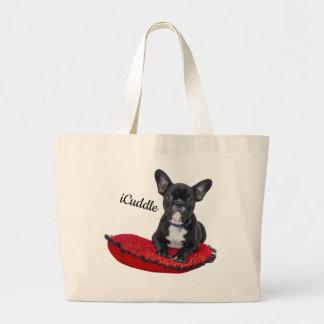 Grand Tote Bag Bouledogue français d'iCuddle adorable