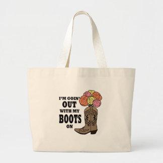 Grand Tote Bag Bouquet de botte de cowboy