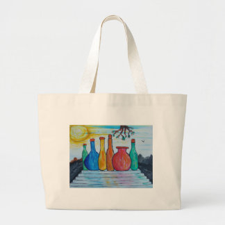 Grand Tote Bag Bouteilles monumentales