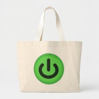 Grand Tote Bag Bouton à bascule de puissance