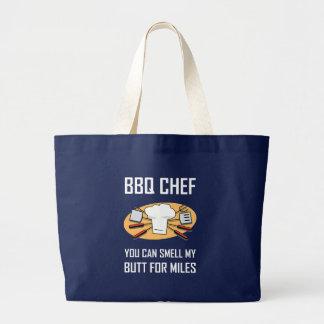 Grand Tote Bag Bouts d'odeur de chef de BBQ