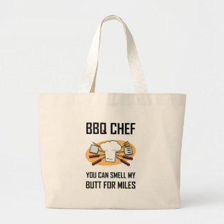 Grand Tote Bag Bouts d'odeur de chef de BBQ
