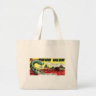 Grand Tote Bag Bravoure de Diego et le monstre de mer