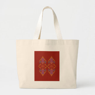 Grand Tote Bag Brun d'eco de mandalas de conception