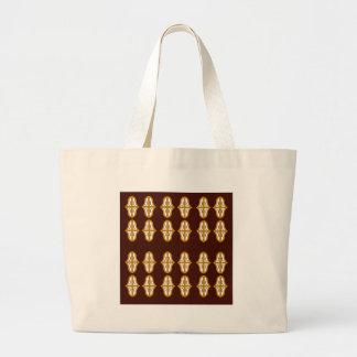 Grand Tote Bag Brun vintage et or du Maroc