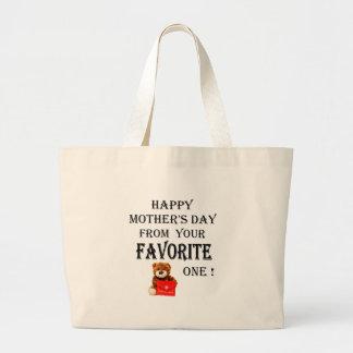 Grand Tote Bag Cadeau heureux de jour de mères