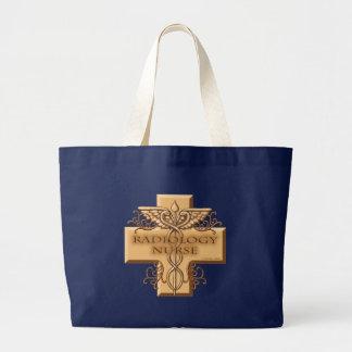 Grand Tote Bag Caducée d'infirmière de radiologie