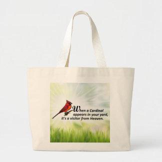 Grand Tote Bag Cardinal dans votre cour