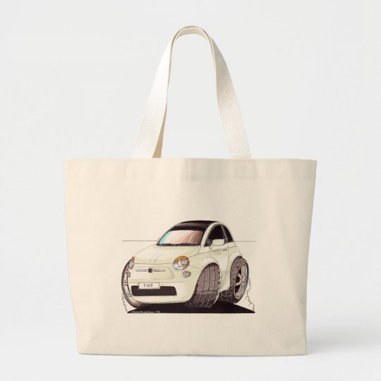 Grand Tote Bag Caricature Fiat 500 façon tuning !