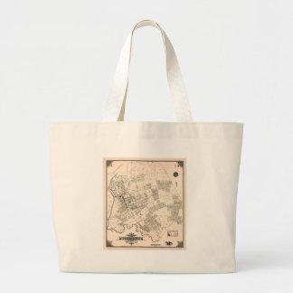 Grand Tote Bag Carte vintage de rincer New York 1894