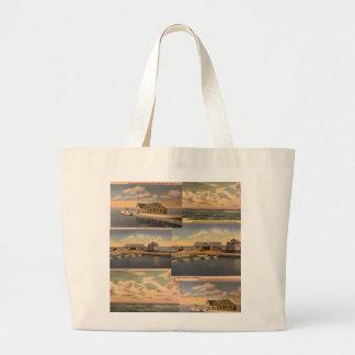 """Grand Tote Bag Cartes postales vintages île"""" Fourre-tout enorme"""