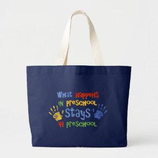 Grand Tote Bag Ce qui se produit dans l'école maternelle