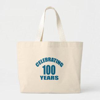 Grand Tote Bag Célébrant 100 ans de conceptions d'anniversaire