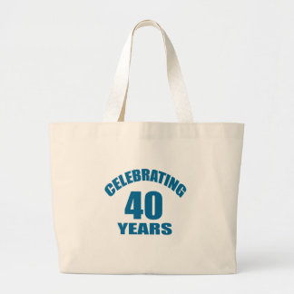 Grand Tote Bag Célébrant 40 ans de conceptions d'anniversaire