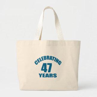 Grand Tote Bag Célébrant 47 ans de conceptions d'anniversaire