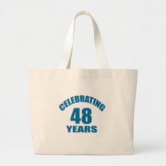 Grand Tote Bag Célébrant 48 ans de conceptions d'anniversaire