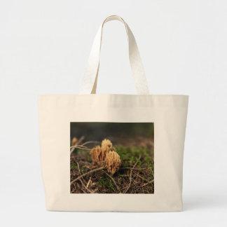 Grand Tote Bag Champignons de corail de souillure verts (abietina