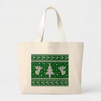 Grand Tote Bag Chandail laid de Noël