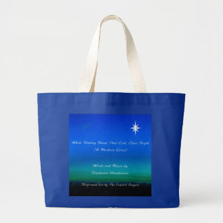 Grand Tote Bag Chant de Noël fourre-tout
