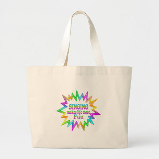 Grand Tote Bag Chant de plus d'amusement