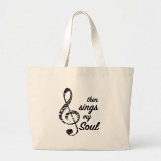 Grand Tote Bag Chante alors mon âme