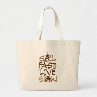 Grand Tote Bag Chapeaux en paille rapides de voile horizontaux