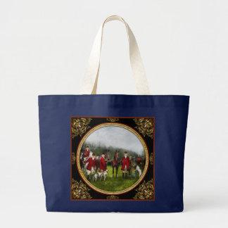 Grand Tote Bag Chasseur - la chasse à renard - Contrôle-ho 1924