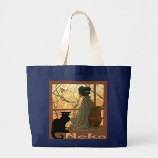 Grand Tote Bag Chat japonais Neko
