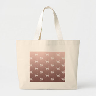 Grand Tote Bag Chats sur l'or rose