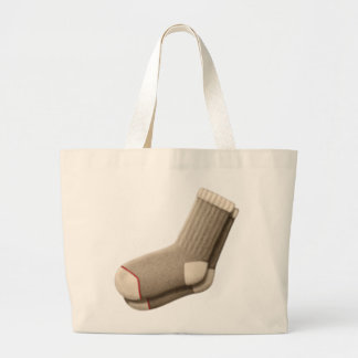 Grand Tote Bag Chaussettes - Emoji