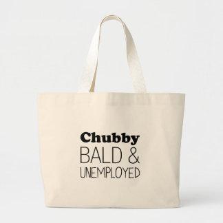 Grand Tote Bag Chauve et sans emploi potelés