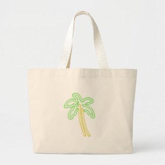 Grand Tote Bag Chemises AU NÉON de PALMIER, accessoires, cadeaux