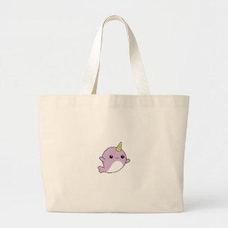 Grand Tote Bag Chemises de la LICORNE NARWHAL, accessoires,