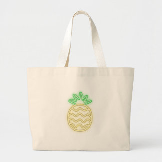 Grand Tote Bag Chemises mignonnes d'ANANAS AU NÉON, accessoires,