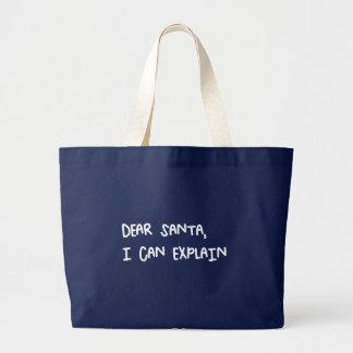 Grand Tote Bag Cher Père Noël que je peux expliquer