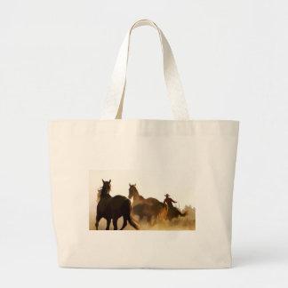 Grand Tote Bag cheval de lasso de cowboy